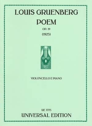 Gruenberg, L: Poem op. 19