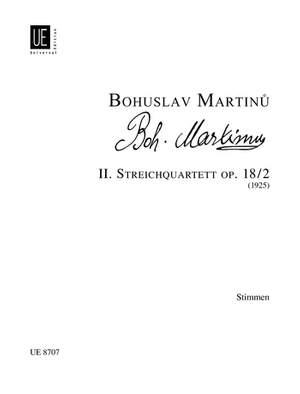 Martinu Bohusla: Martinu Str.quartet No.2 Parts Op. 18/2