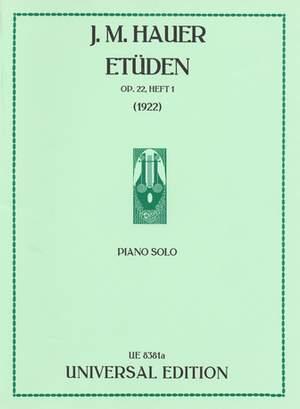 Hauer, J M: Etüden op. 22/1-5 Band 1