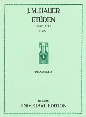 Hauer, J M: Etüden op. 22/6-9 Band 2