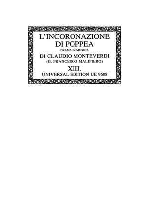 Monteverdi:  Complete Works 14/1 Octsc 14/1