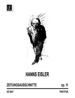 Eisler, H: Zeitungsausschnitte Op. 11 Product Image