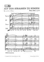 Eisler Hanns: Auf den Straßen zu singen op. 15 Product Image