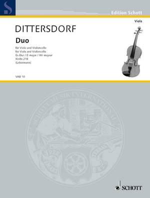 Dittersdorf, K D v: Duo E flat Major Krebs 218