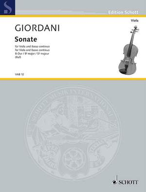 Giordani, T: Sonata Bb Major