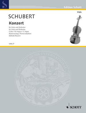 Schubert, J: Concerto C Major