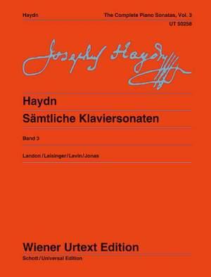 Haydn, J: The Complete Piano Sonatas Volume 3