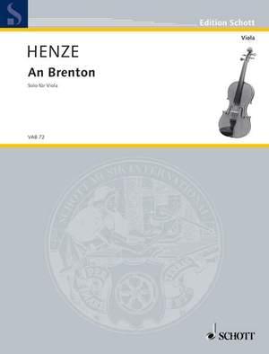 Henze, H W: An Brenton