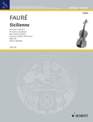 Fauré, G: Sicilienne G minor op. 78