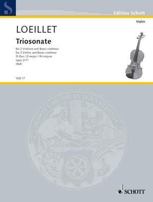 Loeillet, J B (: Trio Sonata D Major op. 2/11