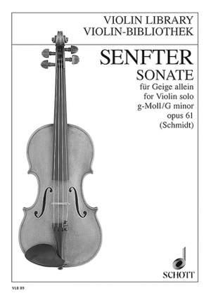 Senfter, J: Sonata G Minor op. 61