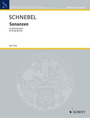 Schnebel, D: Sonanzen