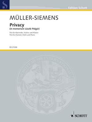 Mueller-Siemens, D: Privacy