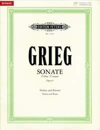 Grieg: Sonata No.1 in F Op.8