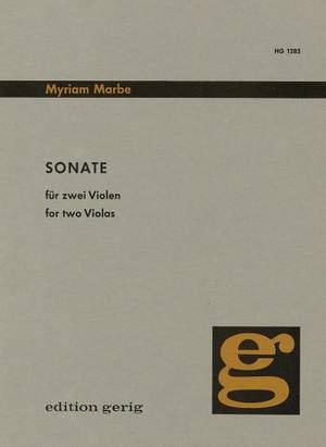 Marbe: Sonate Product Image