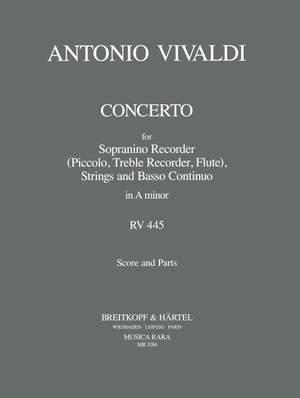 Vivaldi: Concerto in a RV 445 für Sopranino, Str, Bc