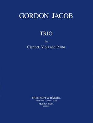 Jacob: Trio for Clarinet, Viola and Piano