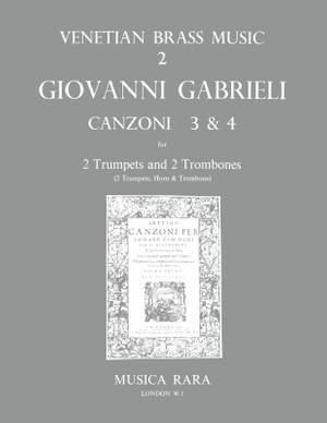 Gabrieli: Canzonas 3 und 4