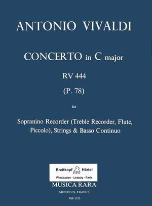 Vivaldi: Concerto in C RV 444 für Sopranino, Str, Bc.