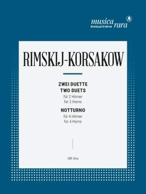 Rimsky-Korsakov: Zwei Duette, Notturno