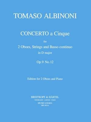 Albinoni, T: Concerto a 5 in D op. 9/12