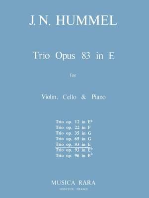 Hummel: Klaviertrio E-dur op. 83