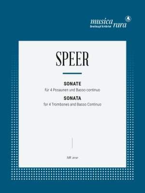 Speer: Sonate in C