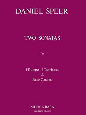 Speer: Zwei Sonaten in C