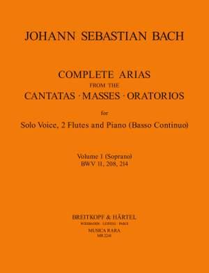 Bach, JS: Compl. Arias (Voc,2 Fl) Vol.1