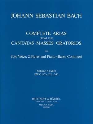Bach, JS: Compl. Arias (Voc,2 Fl) Vol.3