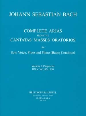 Bach, JS: Sämtliche Arien Bd. 1 S,Fl,Bc