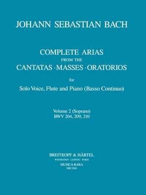 Bach, JS: Sämtliche Arien Bd. 2 S,Fl,Bc
