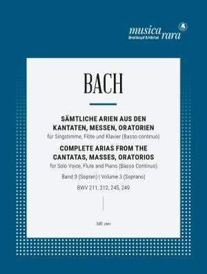 Bach, JS: Sämtliche Arien Bd. 3 S,Fl,Bc