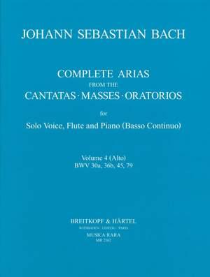 Bach, JS: Sämtliche Arien Bd. 4 A,Fl,Bc