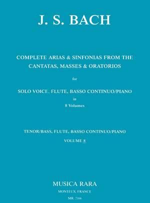 Bach, JS: Sämtliche Arien Bd.8 T/B,Fl,Bc