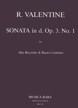 Valentine: Sonate in d op. 3/1