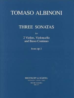 Albinoni: 3 Sonaten aus op. 1 Heft 1: Sonaten 1-3