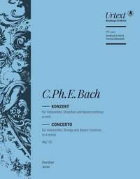 Bach, CPE: Cellokonzert a-moll Wq 170