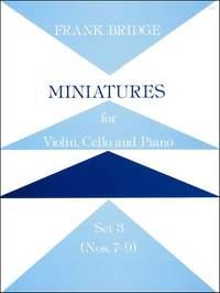 Bridge: Miniatures for Violin, Cello and Piano. Set 3