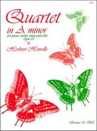 Howells: Quartet in A minor, Op. 21. Violin, Viola, Cello and Piano