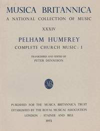 Humfrey: Complete Church Music I