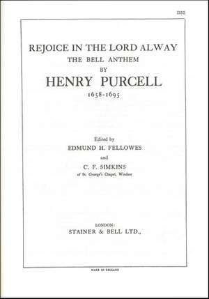 Purcell: Rejoice in the Lord (The Bell Anthem)