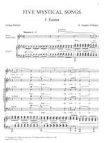 Vaughan Williams: Five Mystical Songs. Vocal Score Product Image