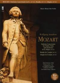 Music Minus One: W.A. Mozart - Sinfonia Concertante For Violin, Viola & Orchestra in E Flat KV 364; Adagio In E; Rondo In C (Violin Version)