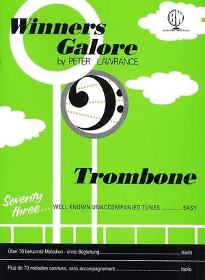 Lawrance: Winners Galore Trombone Bass Clef