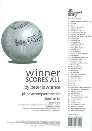 Winner Scores All Piano Accompaniment for Eb Horn