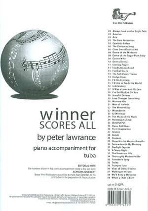 Winner Scores All Piano Accompaniment for Tuba/Eb Bass