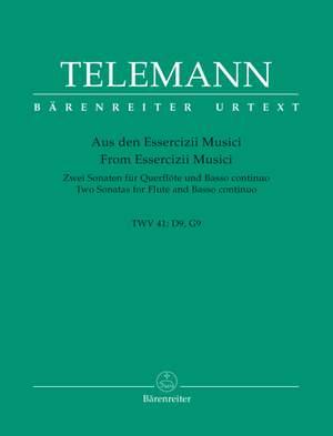 Telemann, G: Sonatas (2) in D (TWV 41: D9), in G (TWV 41: G9) (Urtext)