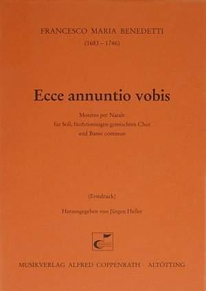 Benedetti: Ecce annuntio vobis (G-Dur)