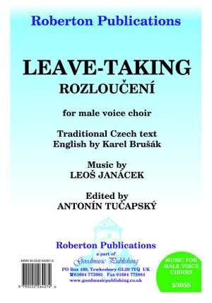 Janacek: Leave Taking Ed.Tucapsky